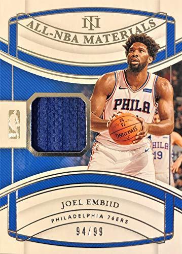 2019 Panini National Treasures JOEL EMBIID All-NBA Jersey Basketball Card - Game Worn Jersey Patch Serial# 94/99 (Only 99 Exist) - Philadelphia 76ers
