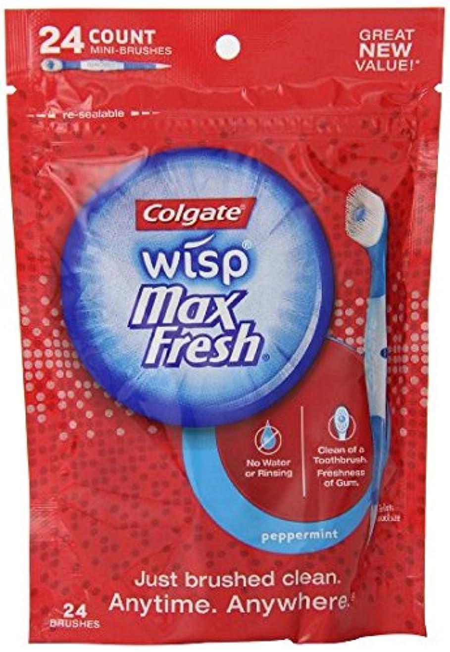 五月投獄プロットコルゲート社 水のいらない使い捨て歯ブラシ ウィスプ ペパーミント味 24本海外直送品 [並行輸入品]