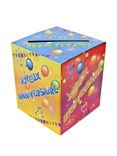 Generique - Urne en Carton Anniversaire Fiesta 20 x 23 cm