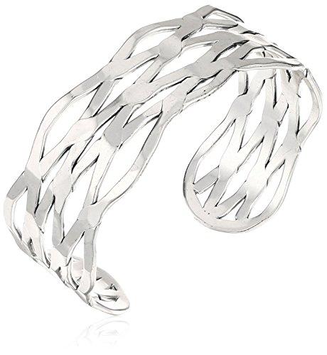 Lucky Brand Open Cuff Bracelet, Silver, One Size