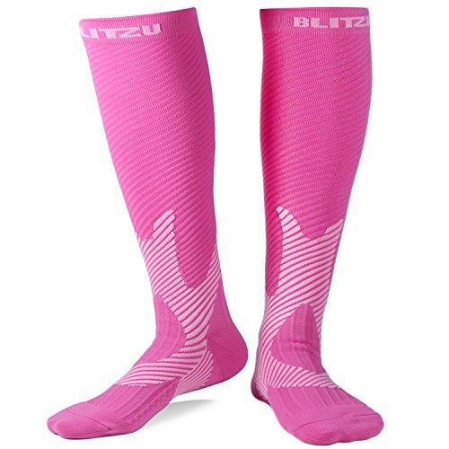 Blitzu Compression Socks 20-30mmHg for Men Women Recovery Running Travel Nursing