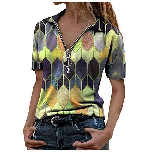 VEMOW Camisas Mujer Nuevo Blusas para Mujer Sexy Tops Camisetas Camisa de...