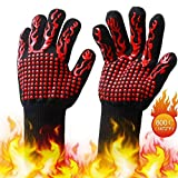 LAK BBQ Gloves, Grilling Gloves 1472℉ Extreme Heat Resistant Grill Gloves,Insulated Oven Mitts