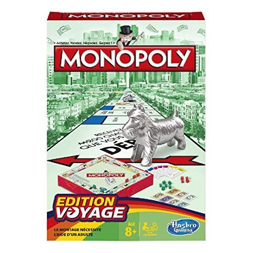 Monopoly - Juego de Mesa de Viaje (versión Francesa)