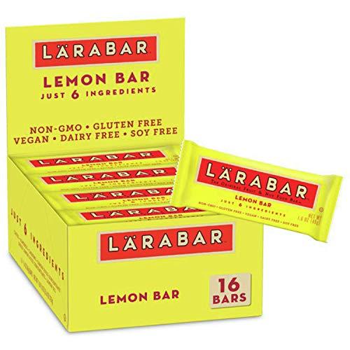 Larabar Lemon Bar, Gluten Free Vegan Fruit & Nut Bar, 1.6 oz Bars, 16 Ct