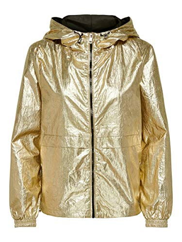 ONLY Damen ONLALICIA METALLIC Jacket CC OTW Jacke, Pale Gold, S