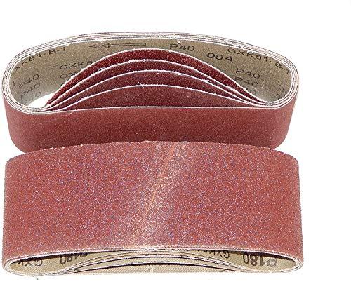 20 Stück Gewebe-Schleifbänder 75 x 533 mm Körnung je 4 x 40/60/80/120/180 für Bandschleifer