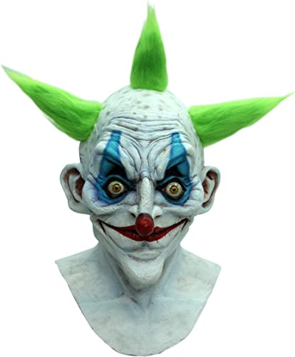 Horror-Shop Psycho Killerclown Maske - Vollkopfmaske - Latex