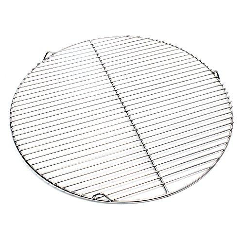 Wiltec Edelstahl Grillrost rund 55 cm rostfrei für Holzkohlegrill, Gasgrill, Schwenkgrill
