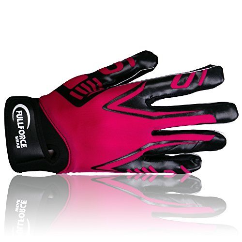 Full Force Titanium Lite American Football Receiver Handschuhe, pink, Gr. XL