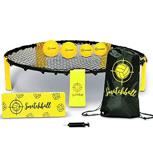 SMATCHBALL© Jeu d'Extérieur pour Adulte & Enfant | Set Complet pour Mini Volleyball Spike | Jeu...