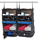 Xcase Kleidertaschen: 2er-Set XL-Koffer-Organizer, Packwürfel zum Aufhängen, 30 x 64 x 30 cm (Packtasche)