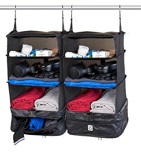 Xcase Hängeschrank: 2er-Set XL-Koffer-Organizer, Packwürfel zum Aufhängen, 30 x 64 x 30 cm (XXL Koffer Organizer)