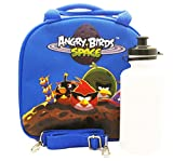 Angry Bird Lunch Box Carry Bag with Shoulder Strap and Water Bottle (Blue)-Brand New with Tags!