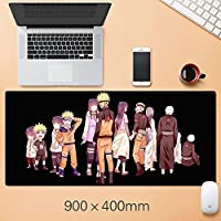 ナルトアニメゲーミングマウスパッド、天然ゴムプラス超滑らかな表面ゲームマウスパッド - 耐水性&滑り止めマウスマット、オフィス-A4_300 * 600 * 3mm