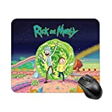 Rick and Morty Mousepad Non-Slip Waterproof Locking Rubber Mouse Mat for Desktop Laptop Keyboard Consoles