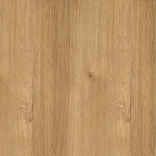 Lámina adhesiva Madera y piedras , vinilos para muebles , lámina decorativa, aspecto real, lámina para muebles, vinilo decorativo (44 x 200 cm, Roble Natural)