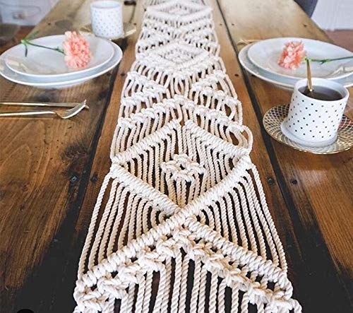 """HomeSwag Macrame Table Runner Long 