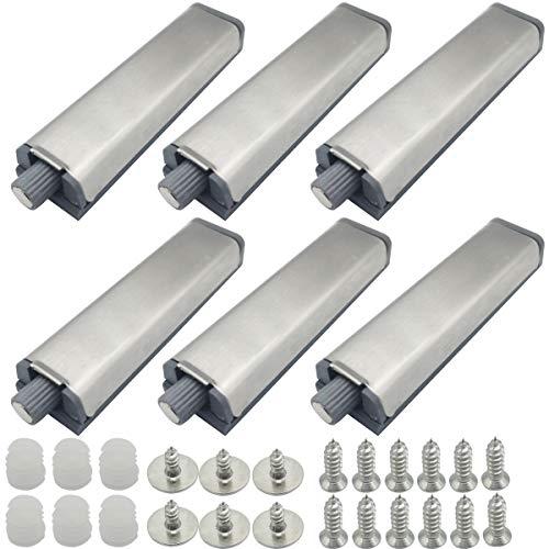 CTRICALVER Drucktüröffner Magnetschnäpper 6 Stück| Tür- und Schubladenverschluss-Set zum Öffnen von Türen, Schubladen, Druck-Mechanismus| Vernickelt Verbesserte Türöffner mit magnetischer Zuhaltung