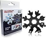Multi-Tool Snowflake - 18-in-1 Snowflake Attrezzo Utensile Multifunzione, Multi-Tool in Acciaio Inox Portatile, Cacciavite Bottle Opener Keychain Chiave per Viaggi in Campeggio