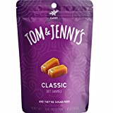 Tom & Jenny's Sugar Free Soft Caramel Candy with Sea Salt and Vanilla - Low Net Carb Keto Candy - with Xylitol and Maltitol - (Classic Caramel, 1-pack) from Tom & Jenny's Candy Company