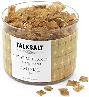FALKSALT Smoke Sea Salt Flakes - 9 Options - 4.4oz (Comparable to Maldon) Great for Meat, Poultry, Seafood, Veggies. Use t...