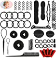 40 Pcs Hair Styling Kit Set Number-one DIY Hair Accessories Fashion Hair Styling Tools Hair Modelling Tool Kit Hairdress Kit Magic Simple Fast Spiral Hair Braiding Tool for Hairstylist Girls Women