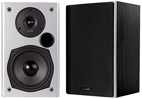 Polk Audio M10, ein Paar Zweiwege-Regallautsprecher, 20–150W, Schwarz