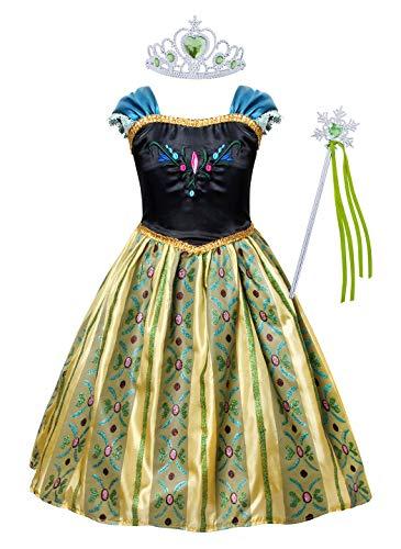 AmzBarley Prinzessinenkleid Kostüm für Mädchen Kinder Kleid Prinzessin Kleider Schneekönigin Geburtstag Karneval Cosplay Party Ankleiden