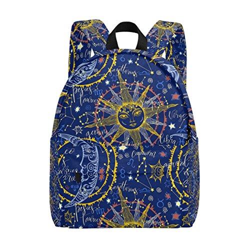 COOSUN - Mochila de Viaje para niñas y Mujeres, diseño astrológico, Ligera, para la Escuela, Estilo clásico, para niñas y Adolescentes