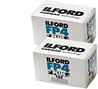 Two Pack of Ilford FP4 Plus 35mm Black & White Negative Film 36 Exp