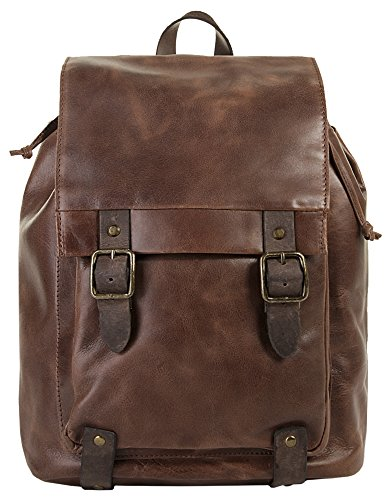 Harold's Rucksack Large 38 x 28 x 14 cm Leder Backpack Herren & Damen braun 255602