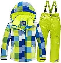 Foknya Girls Boys Snowsuit Set Waterproof Children Adult Warm Ski Suit Jacket Pants Set