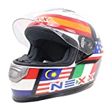 MJW Motorcycle helmet DOT ECE certified road helmet outdoor riding helmet riding safety helmet L code (56-57cm),XXL