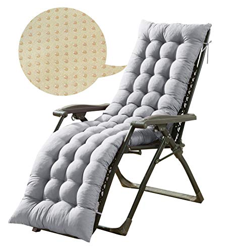 vogueyouth Lounger Cushions,Non-Slip Portable Recliner Patio Garden Furniture Replacement Cushion,Recliner Relaxer Chair Seat Cover for Travel/Holiday/Indoor/Outdoor(CUSHION ONLY)