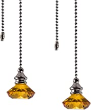 Ceiling Fan Pull Chain Set - 2 Pieces Diamond Fan Pull Chains 20 Inch Ceiling Fan Chain Extender with Chain Connector Home...