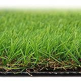 Kunstrasen Rasen – Kunstrasen-Matte dicker Kunstrasen-Teppich für drinnen und draußen, Teppich für Garten, Landschaft, gummierte Rückseite mit Drainagelöchern, hohe Dichte, Höhe 3,5 cm