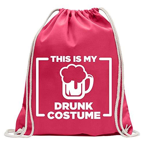 Kiwistar This is My Drunk Costume - Mochila de deporte, de algodón, con correa, rosa, Talla única