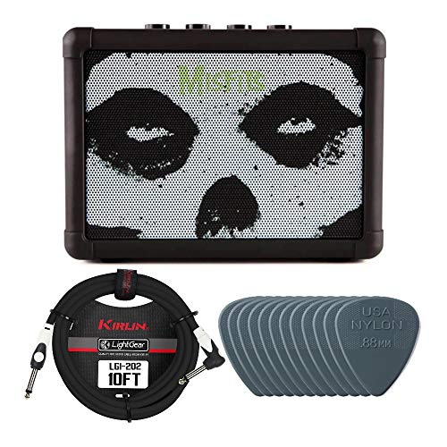 Blackstar Fly3 Blue 3-Watt Bluetooth Amplifier (Misfits Edition) Bundle with Instrument Cable and Guitar Picks (3 Items)