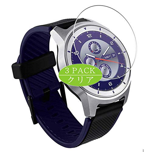 Vaxson 3 Stück Schutzfolie, kompatibel mit ZTE Quartz Smartwatch, Displayschutzfolie Bildschirmschutz Blasenfreies [nicht Panzerglas]