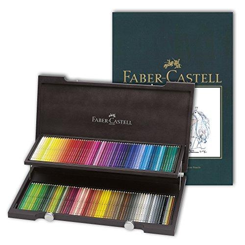 Faber-Castell, Polychromos-Farbstifte, mit A4-Skizzenblock Albrecht Dürer Wenge Koffer