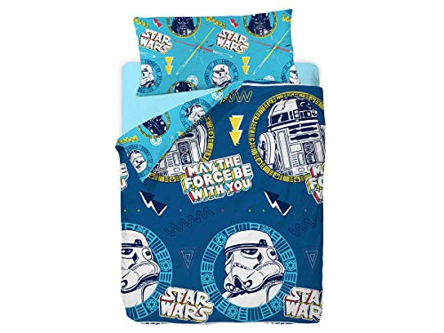 Disney Star Wars Doodle Funda Nórdica de 3 Piezas para Cama 90, Cotton, Multicolor