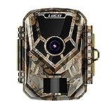 LXLTL Cámara de Caza Nocturna 14MP 1080P con Detección de Acción Camara Fototrampeo Caza con 20pcs LED Negro Infrarrojo y Impermeable IP65 para Vigilancia de la Fauna