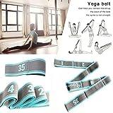 BAYUE Gimnasio Equipo de Gimnasia Cinturón de Yoga Estiramiento de Danza de Alta Elasticidad Cinturón de Nylon Auxiliar Banda de Resistencia de Yoga de Entrenamiento de 9 segmentos Crossfit Yoga