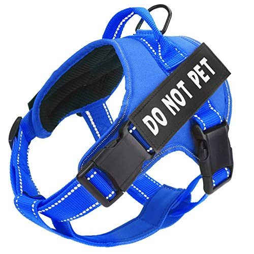 Bolux in Training Dog Harness, DO NOT PET Harness Adjustable Outdoor Service Dog Vest Harness - 3M Reflective Pet Halters for Small Medium and Large Dogs