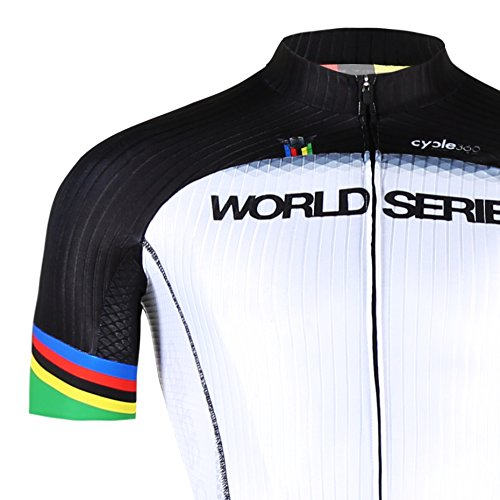 Maillot Ciclismo Manga Corta, Tope de Gama Cycle World Series competición. Mod....