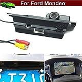 Para Ford Mondeo 2015 2016 Set de manija de maletero de coche con cámara de visión trasera de aparcamiento