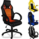 RACEMASTER Racing Bürostuhl Gaming Stuhl, Verschiedene Ausführungen, Gaslift SGS geprüft, höhenverstellbar, Wippmechanik UVM. Gamer Sessel Schreibtischstuhl Computerstuhl