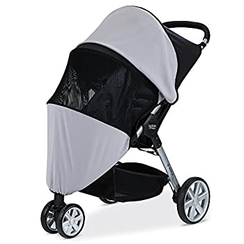 Britax B-Agile B-Free Pathway Single Stroller UPF 50+ Sun and Bug Cover   Full Ventilation Netting + Encloses Front and Sides of Stroller