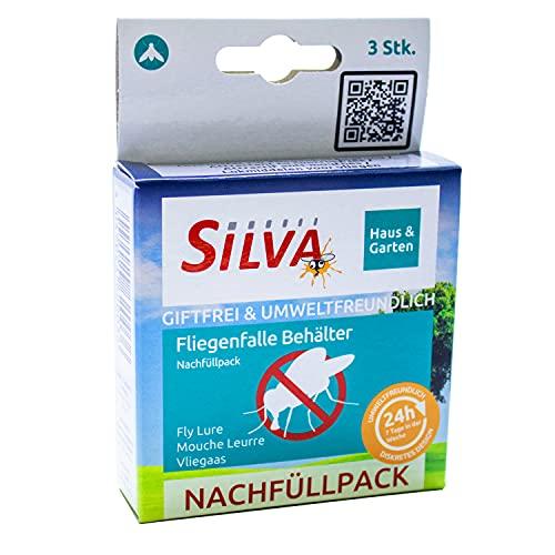 Silva Fliegenfalle Nachfüllpack, Ersatzköder für zuverlässige Fliegenfalle Outdoor Behälter, 3er Pack